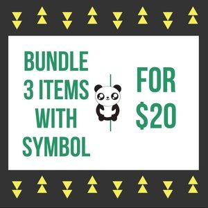 BUNDLE 3 ITEMS WITH THE 🐼SYMBOL FOR $20